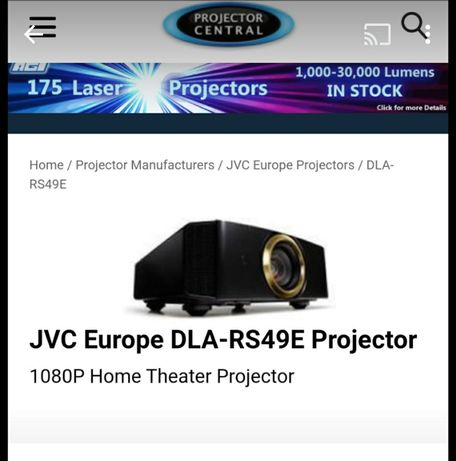 Progetor profissional JVC