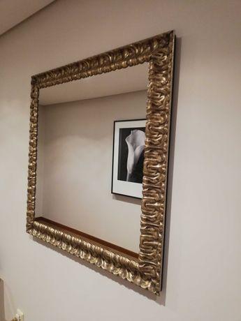 Espelho em talha dourada 1 mt x 1 mt