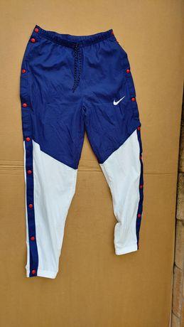 Nike Nap Nowe Rozm S/ M rozpinane spodnie dresowe tkanina. Sportowe