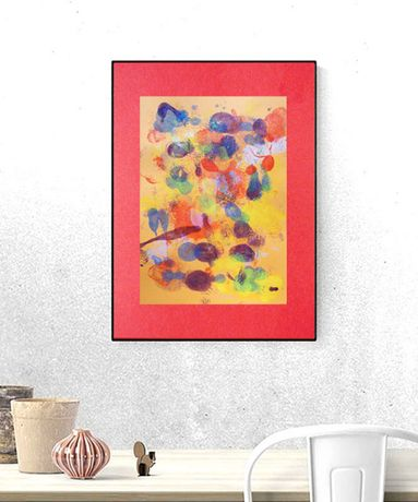 abstrakcja ciepłe kolory, rysunek abstrakcyjny, abstrakcja do pokoju