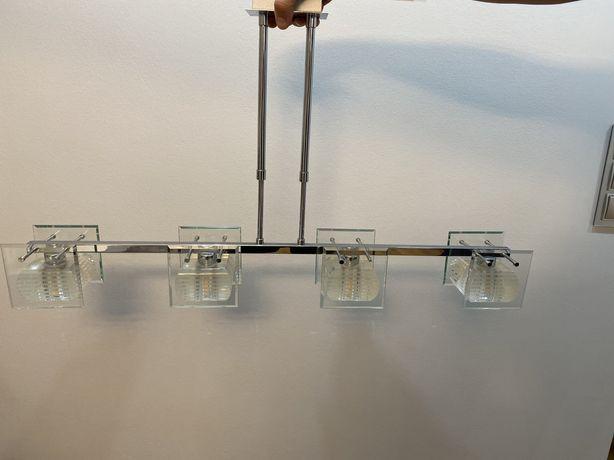 Żyrandol podłużny na 4 żarówki