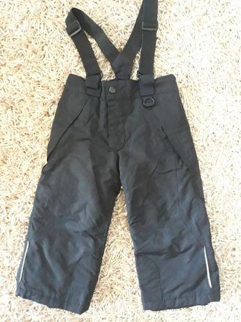 spodnie zimowe 92 narciarskie na szelkach lupilu czarne