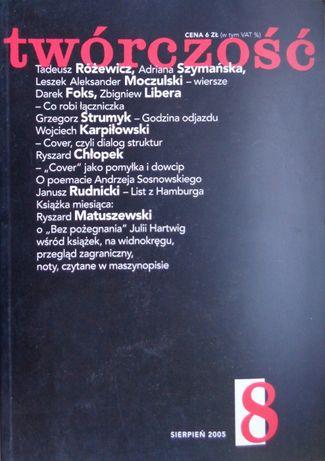 Twórczość nr 8 sierpień 2005 r.