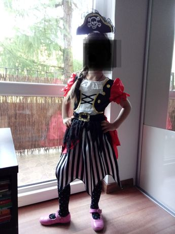 Sukienka pirata z opaską 116-122