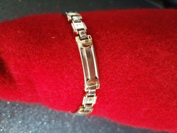 Złota bransoletka-białe złoto 585 14k