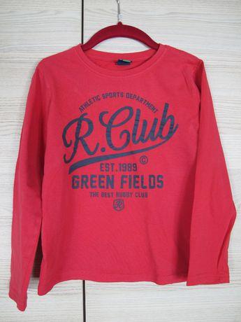 bluzka Reserved 128 chłopięca długi rękaw bawełna jesień zima czerwona