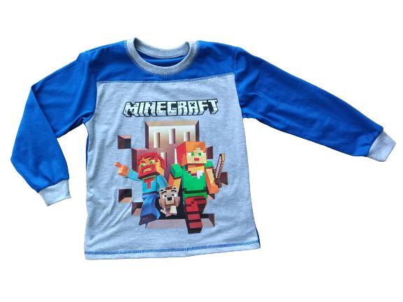 Bluzka długi rękaw koszulka Minecraft 116, 122, 128, 134, 140, 146,152