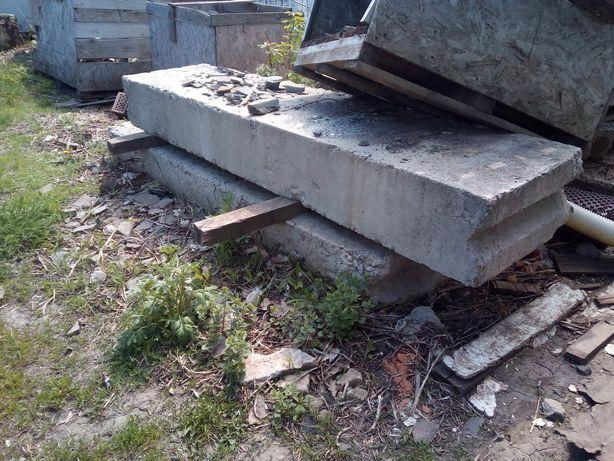 2 шт блоки фундаментные 30-ка. Куски плит перекрытия.