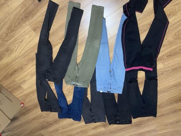Spodnie jeansowe xs s 9sztuk