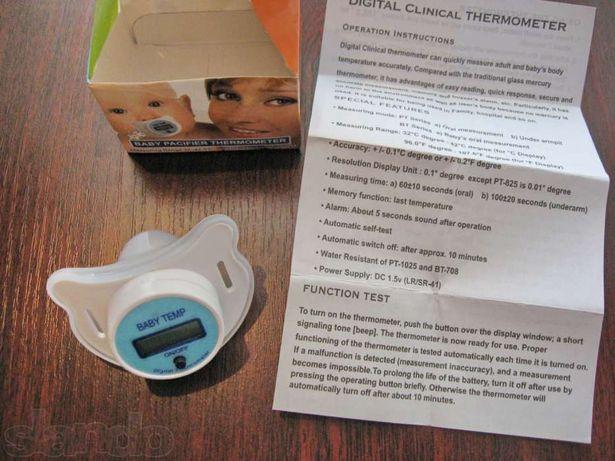 Термометр соска / пустышка электронный градусник