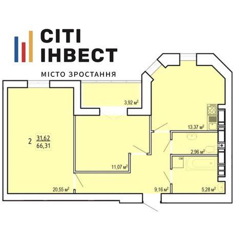 ЖК Сокольники ВИДОВАЯ на ЦЕНТР 2 к. квартира 66м2 11 эт с Документами