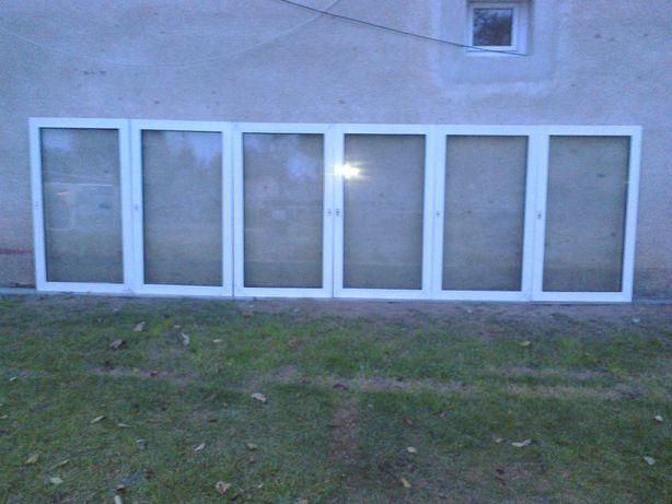 6  skrzydeł okiennych pcv 462x134 białe