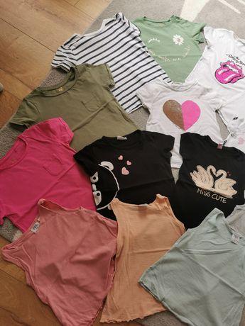 15 koszulek Tshirt Zara, H&M, Reserved 104-110  dziewczynka 3-4 lata