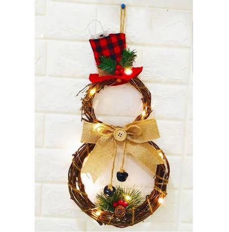Різдвяна прикраса вінок новорічна прикраса новогоднее украшение