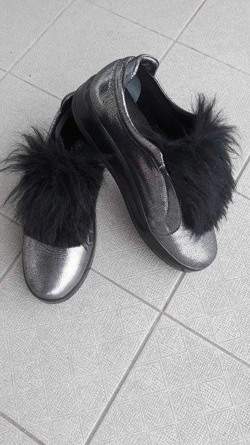Шкіряні туфлі сліпони 39р (кожаные туфли слипоны)
