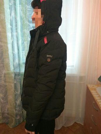 Куртка тёплая, пуховик, зима,:плечи=48см:рукава-67см:спина-71см.