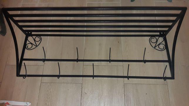 Loft metalowy wieszak