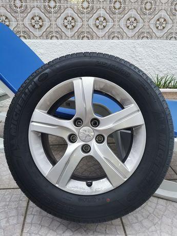 """Jantes Peugeot 16"""" com pneus Michelin"""