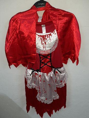 strój karnawałowy kostium Czerwony Kapturek roz. M/L