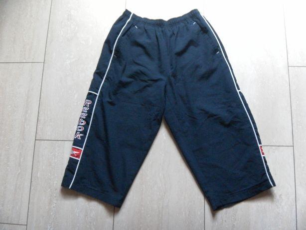 Granatowe spodnie męskie Reebok M na gumce szorty