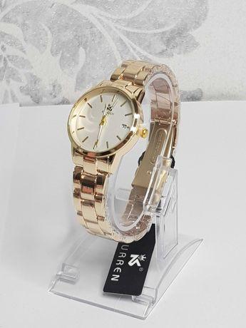 Zegarek na złotej bransolecie stal 316L