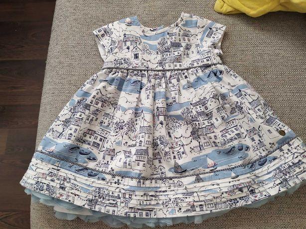 Sukienka dziewczęca r. 62(3-6mcy)