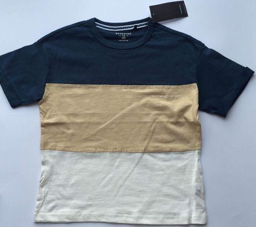 tshirt RESERVED nowy 128 bloki kolorów