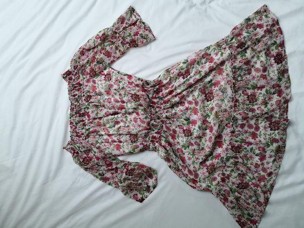 Sukienka w kwiatki, hiszpanka, zwiewna M 38/L 40