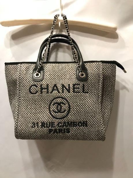 Chanel torba torebka usztywniana A4 czarna