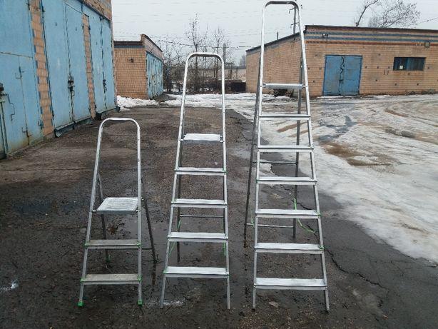Бу алюминиевая лестница на 7-8 ступенек
