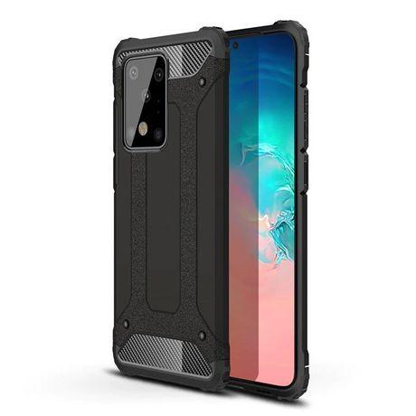 Capa Rígida/Semi Rígida Traseira Hybrid Case Tough Rugged Cover Samsung Galaxy S20 Ultra Preto