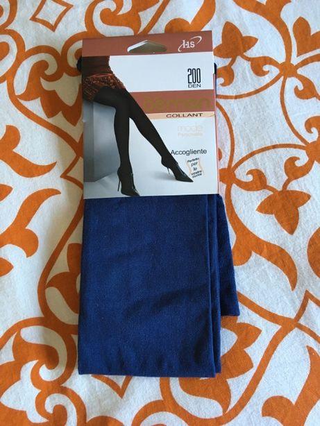 Collants azuis opacos