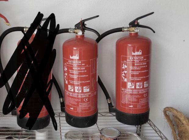 Extintores de pó Quimico ABC