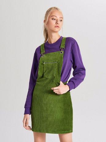 Вельветовая юбка с подтяжками от CROPP