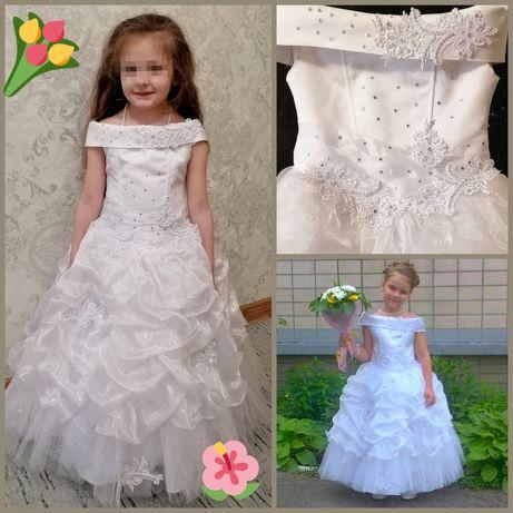 Платье 118-128 ВЫПУСКНОЕ Нарядное ПЫШНОЕ утренник сад ПРАЗДНИК свадьба