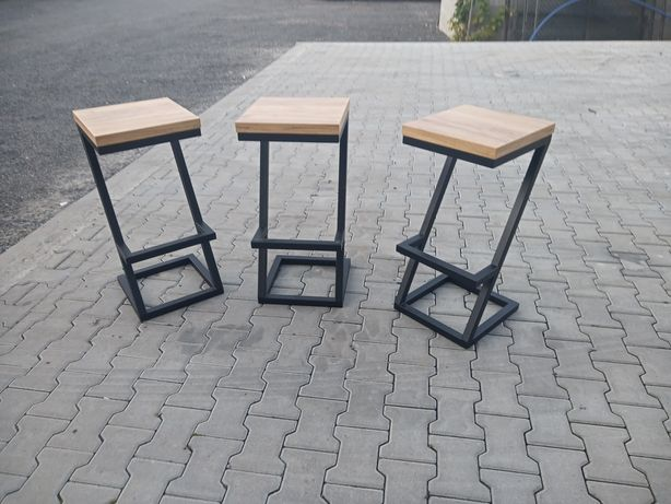 2 x Krzesło barowe hoker stołek loft