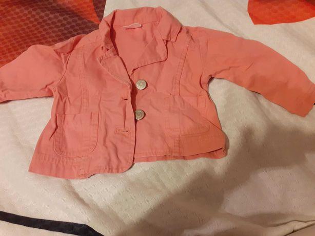 Jeansowa kurteczka dla dziewczynki 74-80 Impidimpi GRATIS sukienka