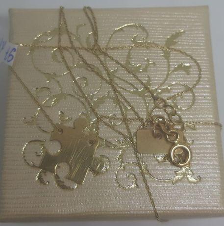 Złoty łańcuszek-celebrytka 1,37g/585p/wysyłka/LOMBARD Raków