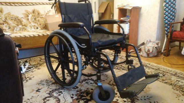 Wózek inwalidzki, aluminiowy SOMA SM-802 Z HAMULCEM PRAWIE NOWY