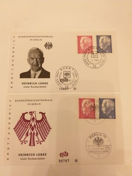Okolicznościowe pocztówki i koperty z lat 60-70 RFN