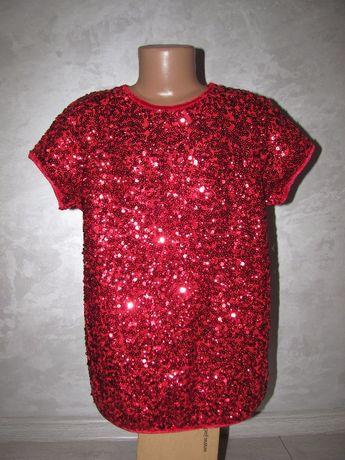 Блузка футболка в паетках 11-12 лет