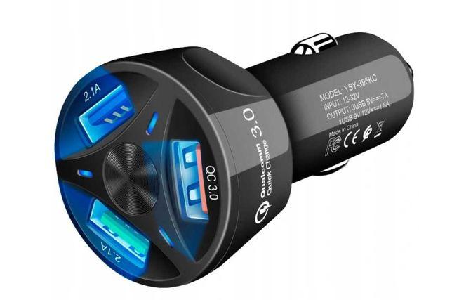 nowa szybka ładowarka samochodowa 3x USB Quick Charge 3.0