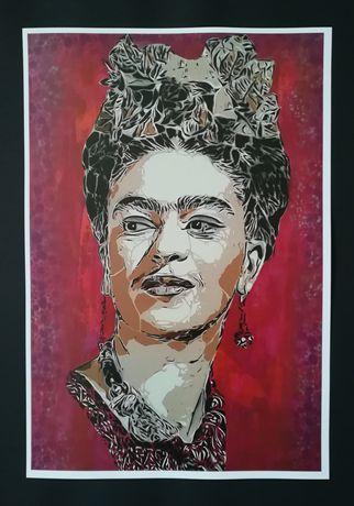 Posters Frida kahlo, Sean Connery, Jimi Hendrix, Ayrton Senna, etc.