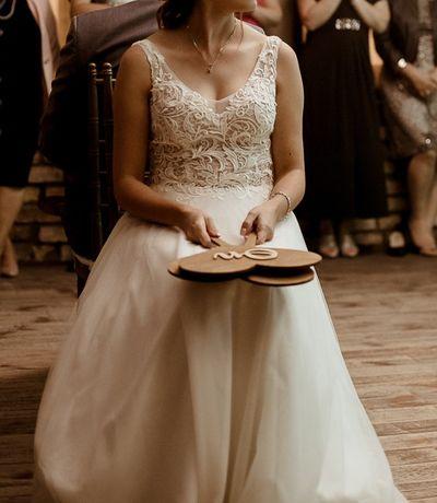 Suknia ślubna zwiewna, lekka, delikatna