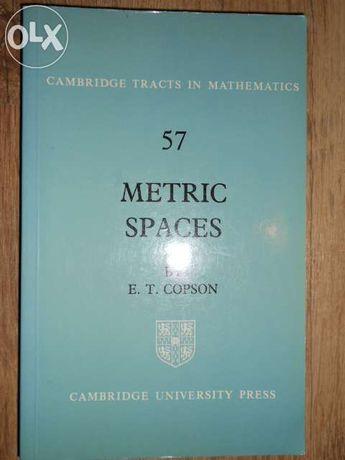 Livro: metric spaces e.t. copson cambridge university