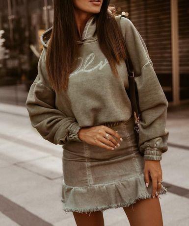 Komplet Ola Voga khaki spódnica z bluzą Cold Ice UNI