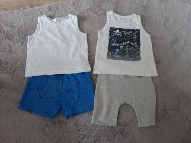 Letnia paka ubrań dla chłopaka r.86/92 + sandałki