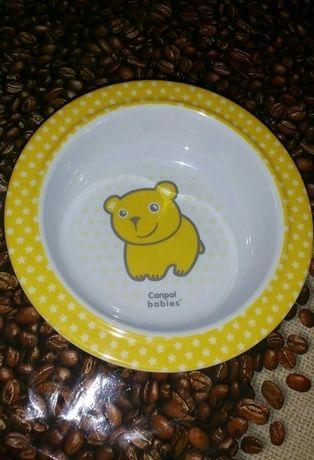 Новая. Тарелка миска на присоске Canpol babies