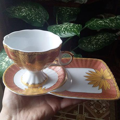 Набор чашка и тарелка.