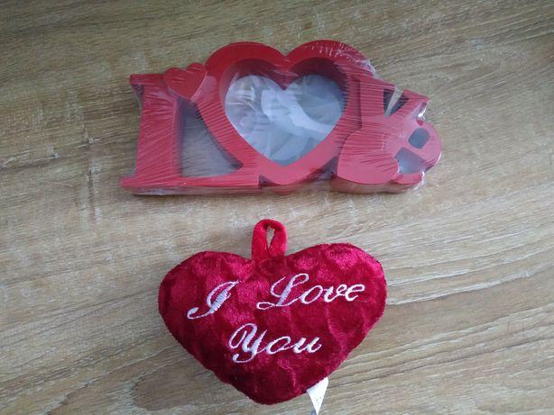 Ramka na zdjecie czerwona serce Love pluszowe serce gratis